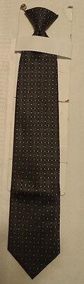 Stafford Essentials Mens Polyester Black Print Redi Clip Tie