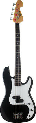 Oscar Schmidt 3/4 Size Black Electric Bass, Solid Wood Body, Split Pickup, OB25B