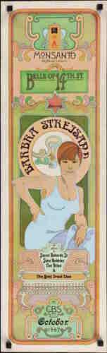 BELLE OF 14th STREET vintage TV poster 10x33 BARBRA STREISAND 1967 TIM LEWIS