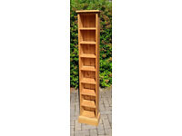 Pine shelving unit for CDs or DVDs with 8 shelves