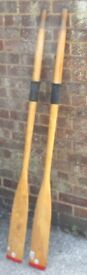 Set of oars for Boat Dingy Tender as per photos