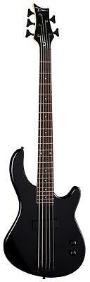 Dean Guitars Edge 09 5 String Electric Bass, Classic Black, EO9 5 CBK