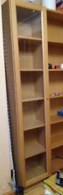 IKEA Billy tall bookcases/cupboards in beech, various