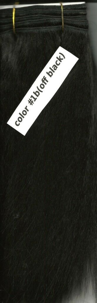 Off Black 1b Synthetic Weave Track Hair Extension 10 Inch Long