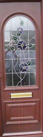 External Rosewood Naples Glazed UPVC Front Door 'Panel'