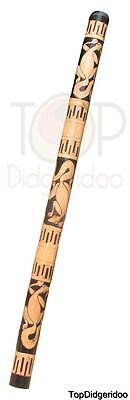 "47""120cm Aboriginal DIDGERIDOO Lizards HandCarved+BAG+Beeswax+World Ships Free"