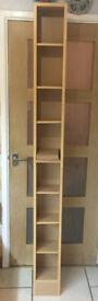 2meter wooden DVD/CD case with multiple shelves