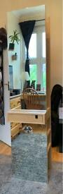 Full-Length Mirror With Hanging Space, Drawer & Shelving