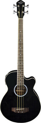 Oscar Schmidt by Washburn Acoustic/Electric Bass, Black, Gig Bag Included,OB100B