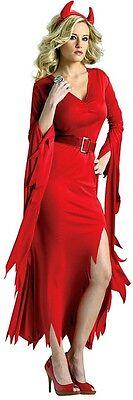 Neu Damen Sexy Teufel Hölle Feuerrot Halloween Kostüm Kleid Party ladcos21
