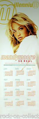 Mandy Moore Millennium In House Promo Calendar Poster Original