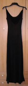 Morgan De Toi floor length black dress - French Size T1 (UK 8)