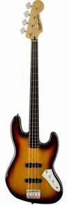 Jazz Bass Fretless 3 tone sunburst Squier 0306608500   *neuve