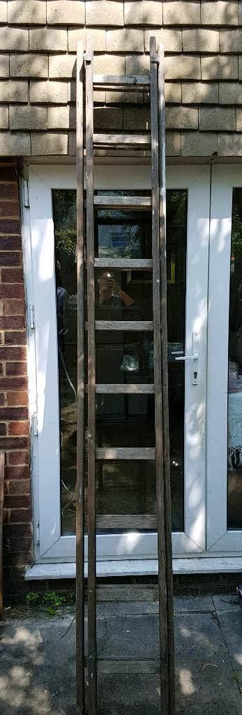 20 rungs Vintage wooden ladder
