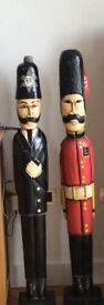 Police officer and queen guard