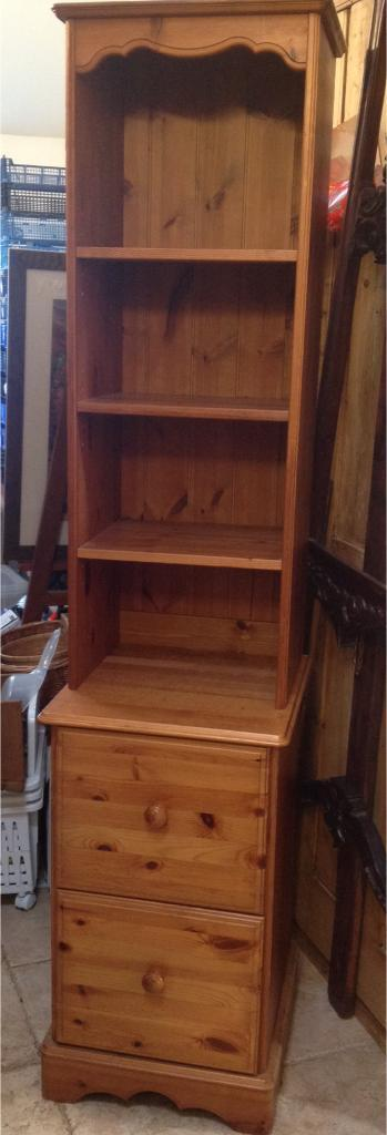Tall slim UNIT solid wood, top separates from base