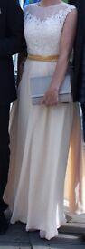 Long Chiffon Lace Formal Dress Evening Prom Wedding