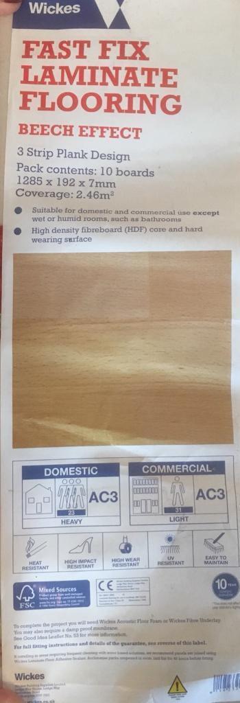 Reclaimed laminate flooring