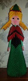 3D Origami Princess Anna