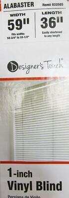 "Designer's Touch 1 inch Vinyl Mini Blinds Alabaster 59"" x 36"