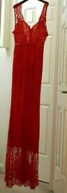 Women Red lace dress