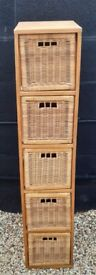 Wood and wicker storage