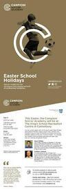Easter half term camp at Kings school Canterbury