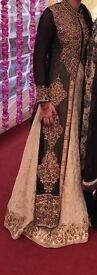 Size 8 black and gold asian wedding dress