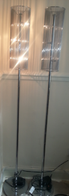 NEXT floor lamp chrome with dimmer switch