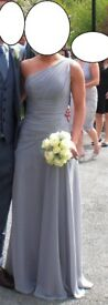SORELLA VITA GREY BRIDESMAID DRESS SIZE 10