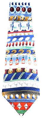 Tabasco Bottle Fish Shrimp Mushroom Necktie Tie Silk Made In USA