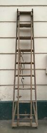 Vintage Apple Picker's wooden Ladders Display Upcycle Weddings