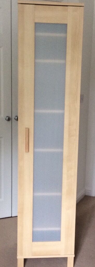 Ikea Beech Single Tall Storage Wardrobe Cupboard Unit