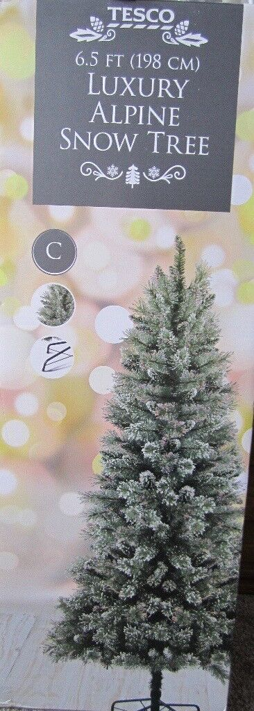 6 5ft Alpine Christmas Tree Plus 250 Led Lights And Decorations All