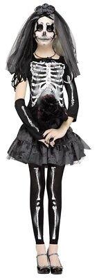 Teenager Mädchen Kinder Junior Skelett Braut Kostümgröße 0-9