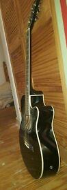 Dreadnought Electro Acoustic Guitar + case