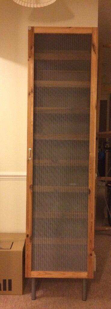 Tall Shoe Cupboard Shoe Cabinet Wood With Metal Mesh