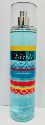 Bath $ Body Works ENDLESS WEEKEND Fine Fragrance Mist 8 Oz NEW* Ships Free