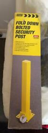Fold Down Bolted Security Post. Single