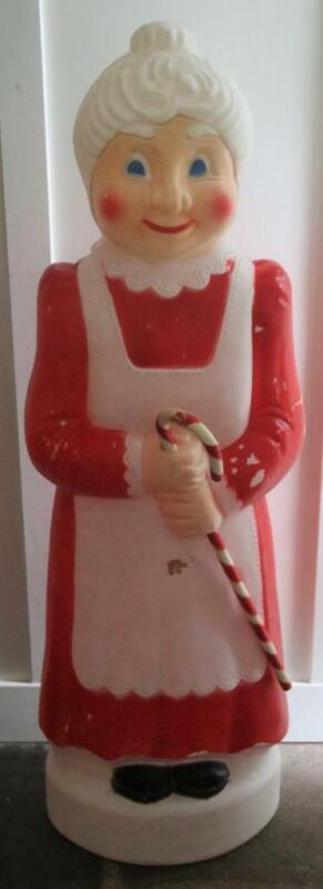 VINTAGE Don Featherstone Mrs.Claus Blow Mold Christmas Candy Cane FREE SHIPPING!