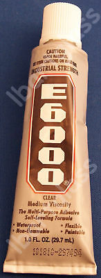 TWO 1 OUNCE TUBE AMAZING E6000 INDUSTRIAL STRENGTH E6000 GLUE YOUR ANNRAKU BAILS