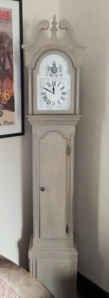 Modern Shabby Chic Type Grandfather Clock With Cd Storage