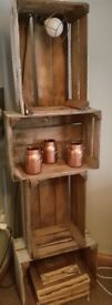 Handmade vintage style shelving units