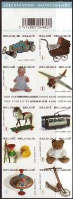 Belgium**TOYS-TEDDY BEAR-TRAIN-HORSE-DOLL-Booklet 10vals-2008-Jouets-MNH