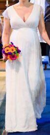 Long Lace Maternity Bridal Gown/ Wedding Dress/ Formal Dress
