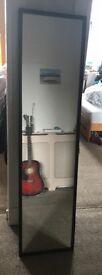 Long black Ikea mirror
