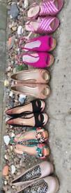 6 pairs of heels. Size 7. Never worn. £9each