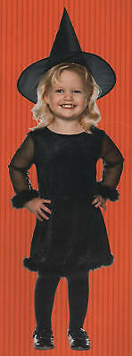 ALL BLACK WITCH COSTUME Girls Small Medium Large Hat Classic Child Halloween - All Halloween Costumes For Girls