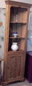 Vintage Stripped Pine Corner Unit