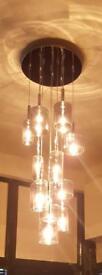 Silver drop lights